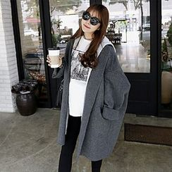 Tabla - Plain Long Knit Coat