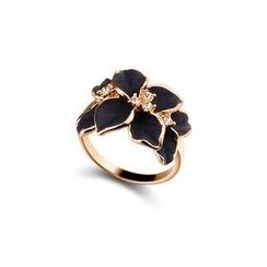 Glamiz - Rhinestone Floral Ring