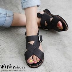 Wifky - Wide-Strap Sandals