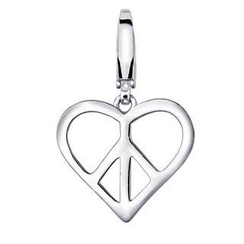 MBLife.com - 925 Sterling Silver Heart Peace Charm, Fashion Jewelry Gift For Women, Girl, Teens