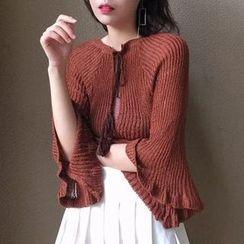 Dasim - 七分袖薄紗毛衣