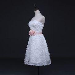 Gracia - Strapless Tulle Bridesmaid Dress