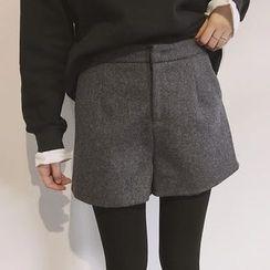 Whitney's Shop - Plain Woolen Shorts