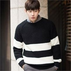 STYLEMAN - Ribbed Color-Block Sweater