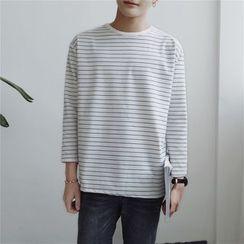 子俊 - 条纹七分袖T恤