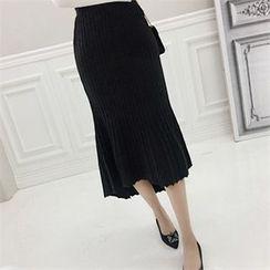 Babi n Pumkin - Dip-Back Seam-Detail Maxi Skirt