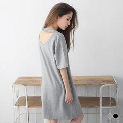 OrangeBear - V-Cut Boxy Tee Dress