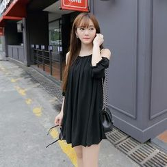 AC - Off-Shoulder Chiffon Dress