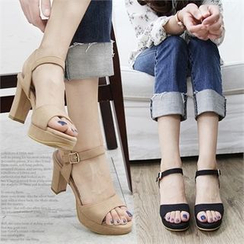 Reneve - Ankle-Strap Chunky-Heel Sandals