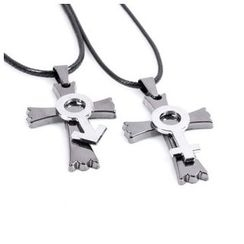 KINNO - Matching Couple Cross Necklace Set