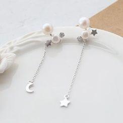 Love Generation - Sterling Silver Freshwater Pearl Earrings