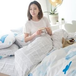 Petrie - Bedding Set: Cloud Print Duvet Cover + Bed Sheet + Pillowcase