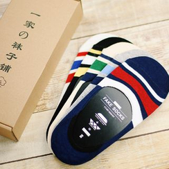 Socka - 5双装条纹隐形船袜