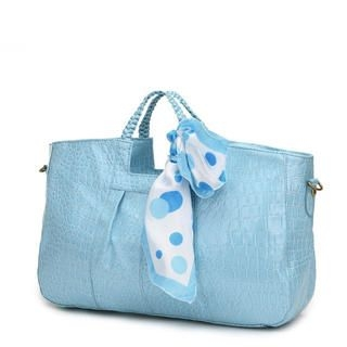 Miss Sweety - Croc-Grain Satchel