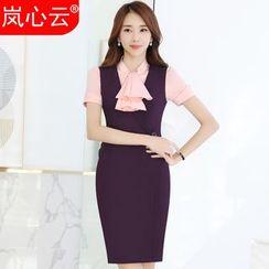 Skyheart - 套装: 纯色背心裙 + 纯色短袖衬衫