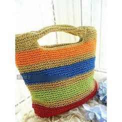 Trava - Striped Woven Tote
