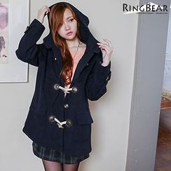 RingBear - Woolen Hooded Toggle Jacket