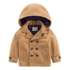 DEARIE - Kids Double Breasted Hooded Coat