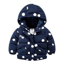 DEARIE - Kids Dotted Hooded Padded Coat