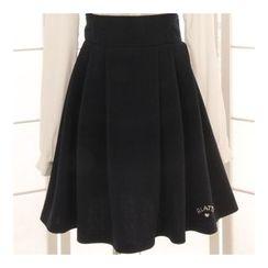 Reine - Embroidered A-Line Jumper Skirt