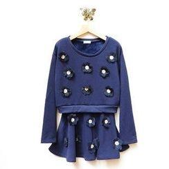 Tulander - Set: Corsage Pullover + A-Line Skirt
