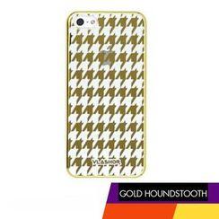Vlashor - 金色千鸟格iPhone5电话手机壳