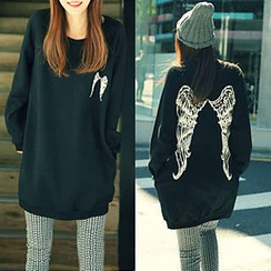 Cloud Nine - Wing Print Long Pullover