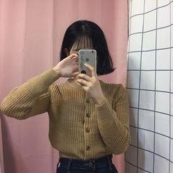 monroll - 短款粗织开衫