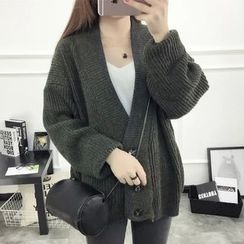 Acoustic Rain - Chunky Knit Cardigan