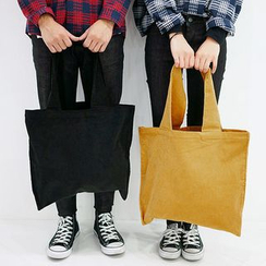 Seoul Homme - Couple Corduroy Shoulder Bag