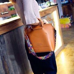 兔貝貝 - 仿皮手提包 + 彩色肩帶斜挎包