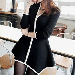 Only Eve - Peplum Zip Knit Jacket