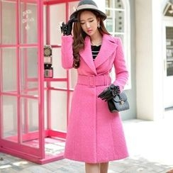 粉红大布娃娃 - 搭扣长大衣