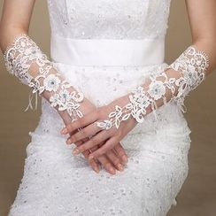 Sky n Sea - Crochet Lace Wedding Gloves