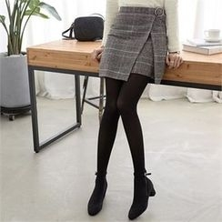 PEPER - Wrap-Front Check Skirt