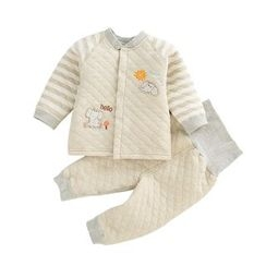 JIMIJIMI - Baby Set: Elephant Applique Quilted Jacket + Pants