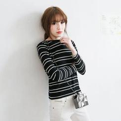 Tokyo Fashion - Striped Knit Top