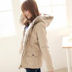 Tokyo Fashion - Faux-Fur Trim Hooded Jacket