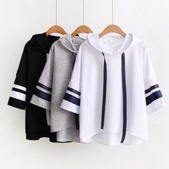 Angel Love - Elbow-Sleeve Hooded T-Shirt