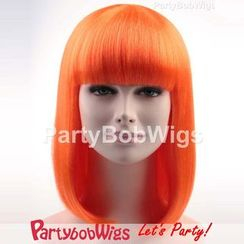 Party Wigs - PartyBobWigs - Party Medium Bob Wig - Orange