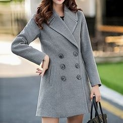 Neeya - Notch Lapel Double Breasted Coat