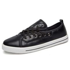 EnllerviiD - Faux-Leather Sneakers