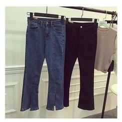 Octavia - Slit Boot Cut Jeans