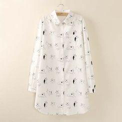 Tangi - Dog Print Shirt