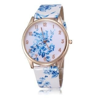 Miss Girl - Faux Leather Print Strap Watch