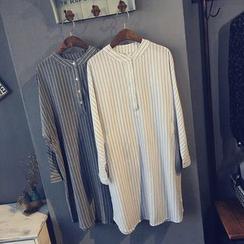 芷蓯夕 - 細條紋襯衫裙