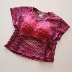 Cara Cloud - 短袖T恤 / 套装: 短袖T恤 + 运动胸衣