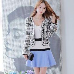 Dabuwawa - Color-Block A-Line Skirt