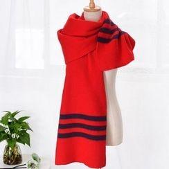 羚羊早安 - 条纹围巾