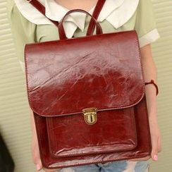 TAIPEI STAR - Faux-Leather Backpack